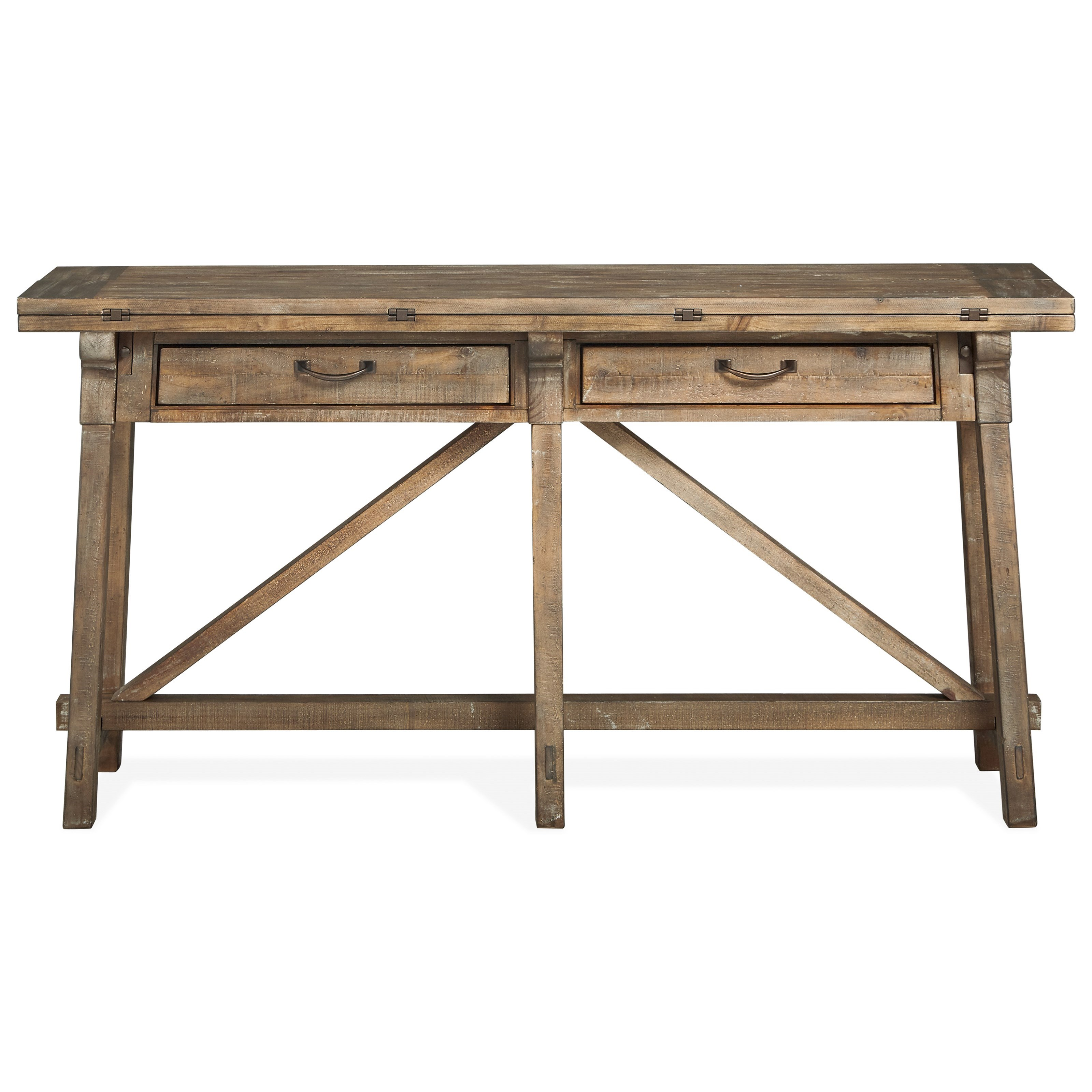 Bluff Heights Flip Top Sofa Table by Magnussen Home at Value City Furniture