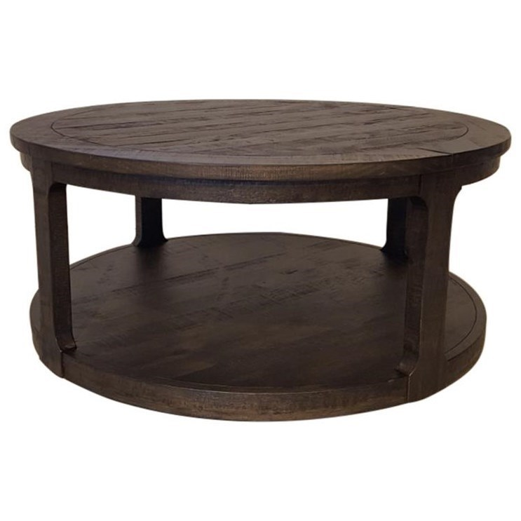 Boswell Round Cocktail Table w/Casters by Magnussen Home at Darvin Furniture