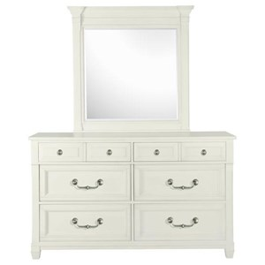 Magnussen Home Brookfield 6 Drawer Dresser and Mirror