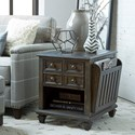 Magnussen Home Burkhardt Rustic Magazine End Table with One Drawer