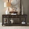 Magnussen Home Burkhardt Rustic Rectangular Sofa Table with Floating Bottom Shelf