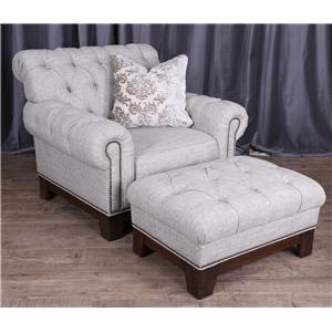 Magnussen Home Caitlyn Chair and Ottoman