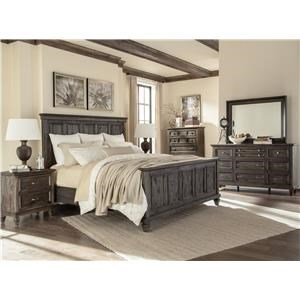 Magnussen Home Calistoga King Panel Bed, Dresser, Mirror & Nightstand