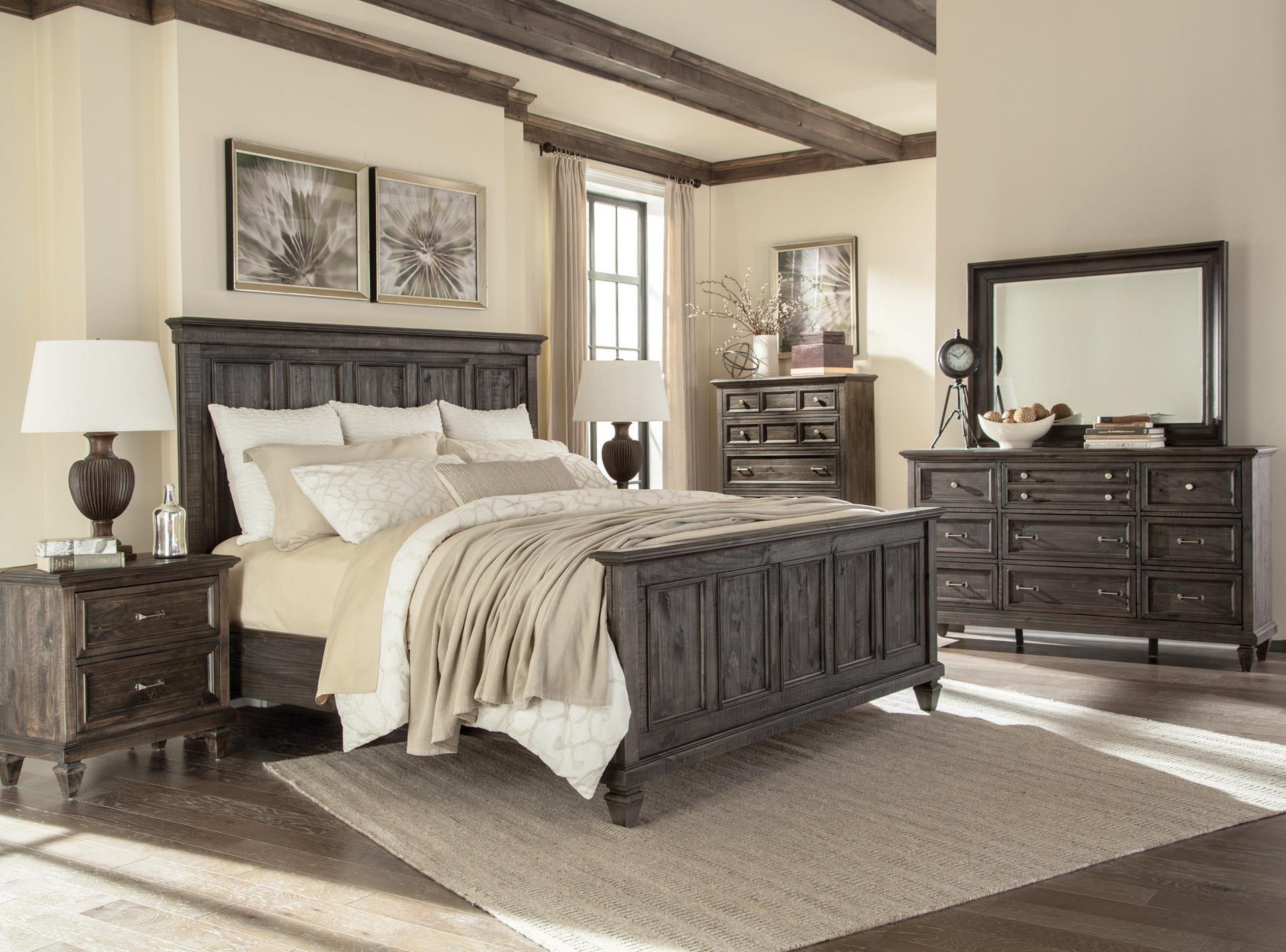 Magnussen Home Calistoga Queen Panel Bed, Dresser, Mirror & Nightstan - Item Number: MAGN-GRP-B2590-QNPANELSUITE