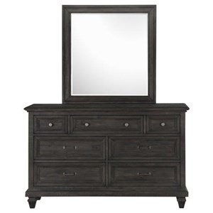 Magnussen Home Calistoga Y2590 7 Drawer Dresser and Mirror