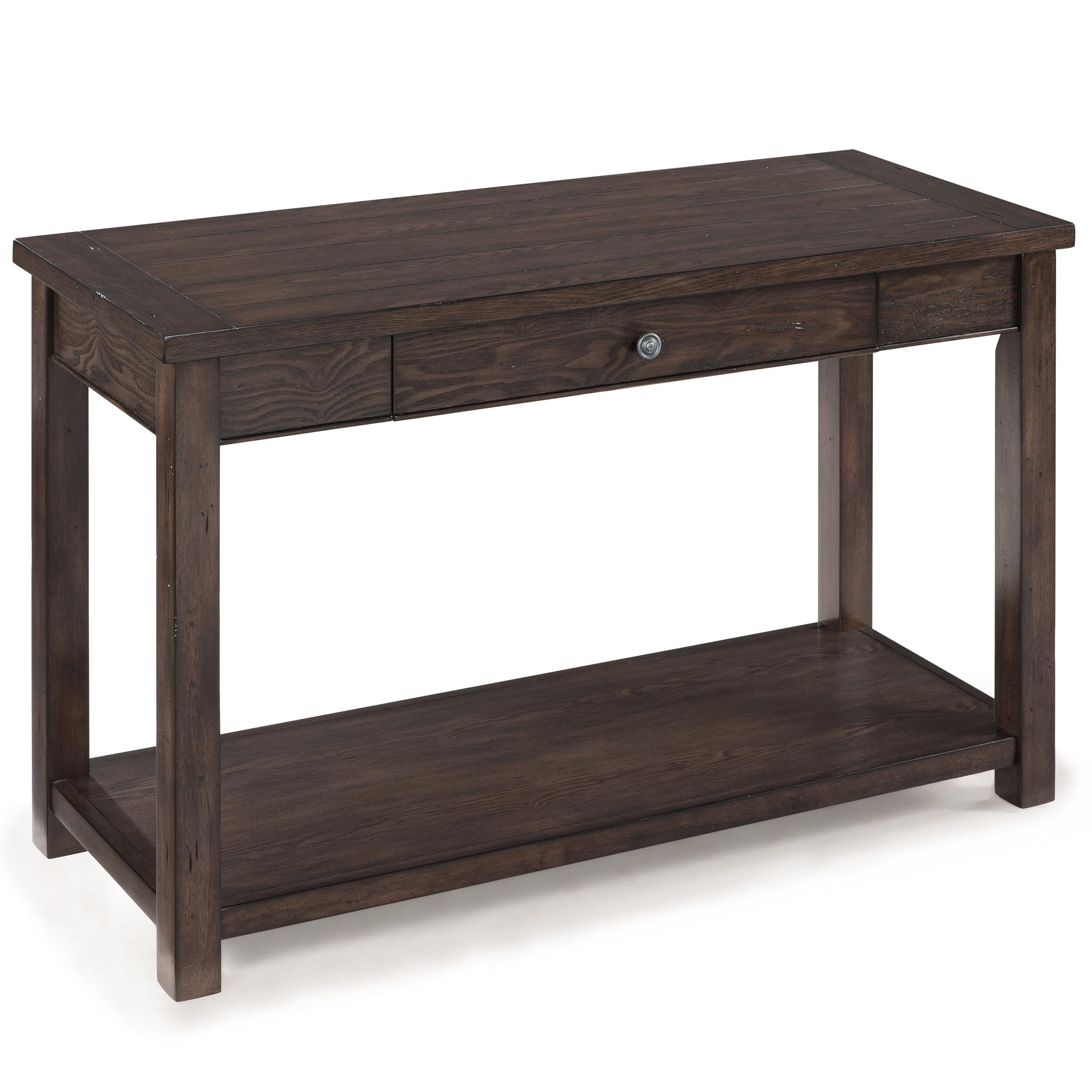 Magnussen Home Clayton Rectangular Sofa Table With Drawer and