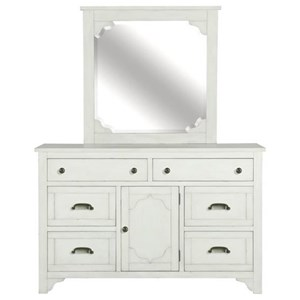 Belfort Select Coventry Lane 6 Drawer Dresser and Mirror