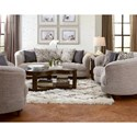 Magnussen Home Desseray Traditional Tufted Loveseat