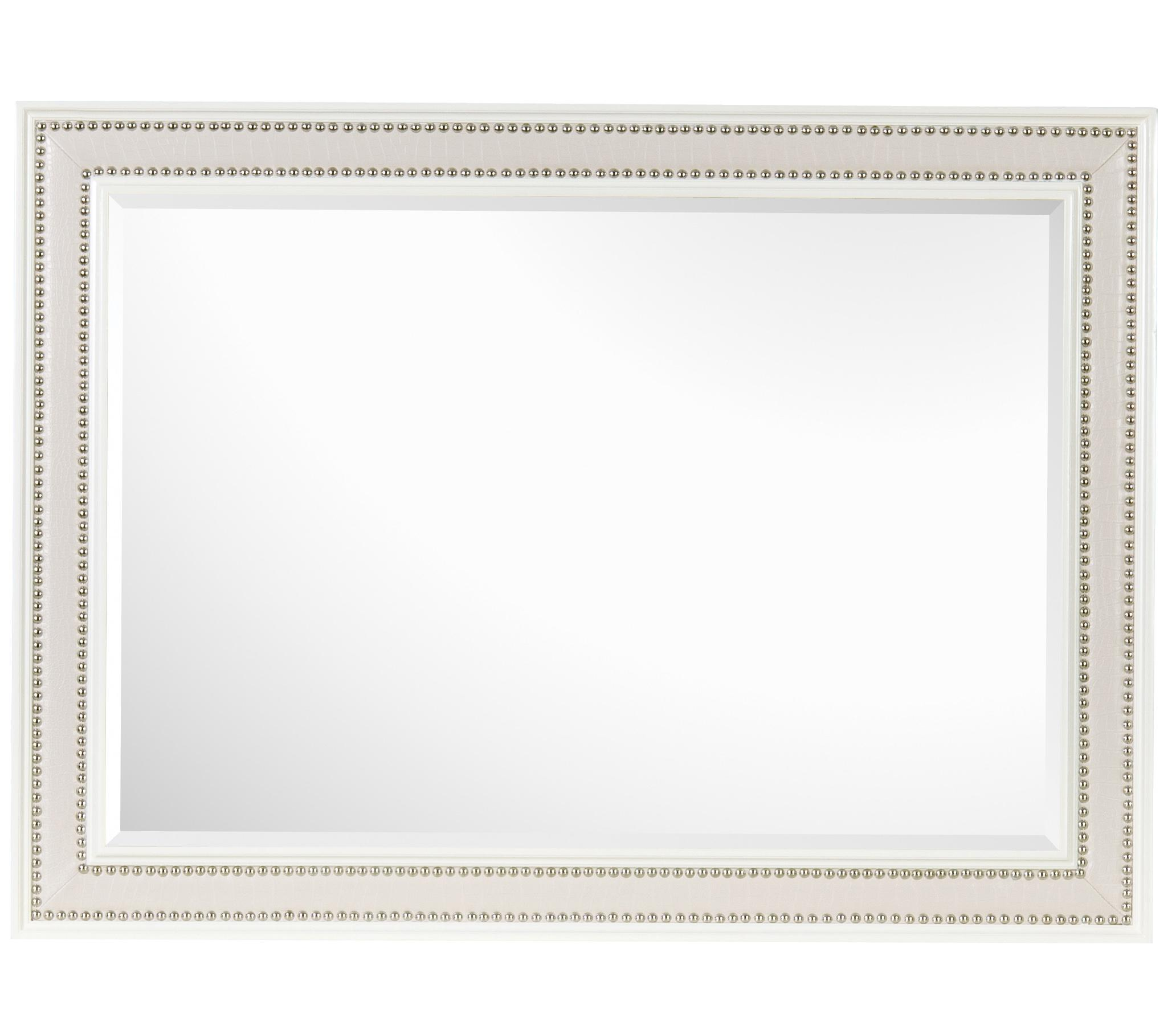 Magnussen Home Diamond Bedroom Beveled Landscape Mirror with ...