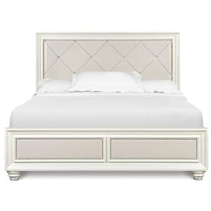 Magnussen Home Diamond Bedroom Queen Island Bed