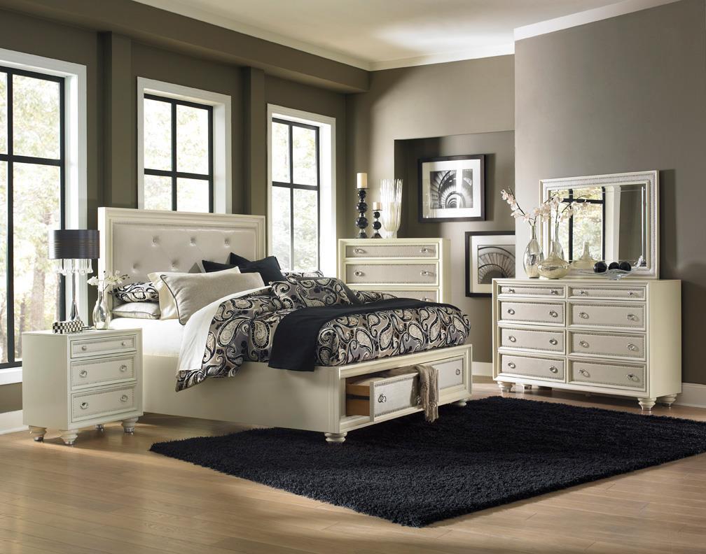 Magnussen Home Amelia 4-Piece King Storage Bedroom Set - Item Number: B2344-KSB-4PC
