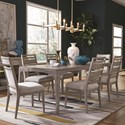 Magnussen Home Pacifica Dining Set for Six - Item Number: D4771-20+2x64+4x62