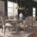 Magnussen Home Pacifica Dining Set for Six - Item Number: D4771-20+6x62