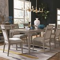Magnussen Home Pacifica Table and Chair Set for Six - Item Number: D4771-20+6x64