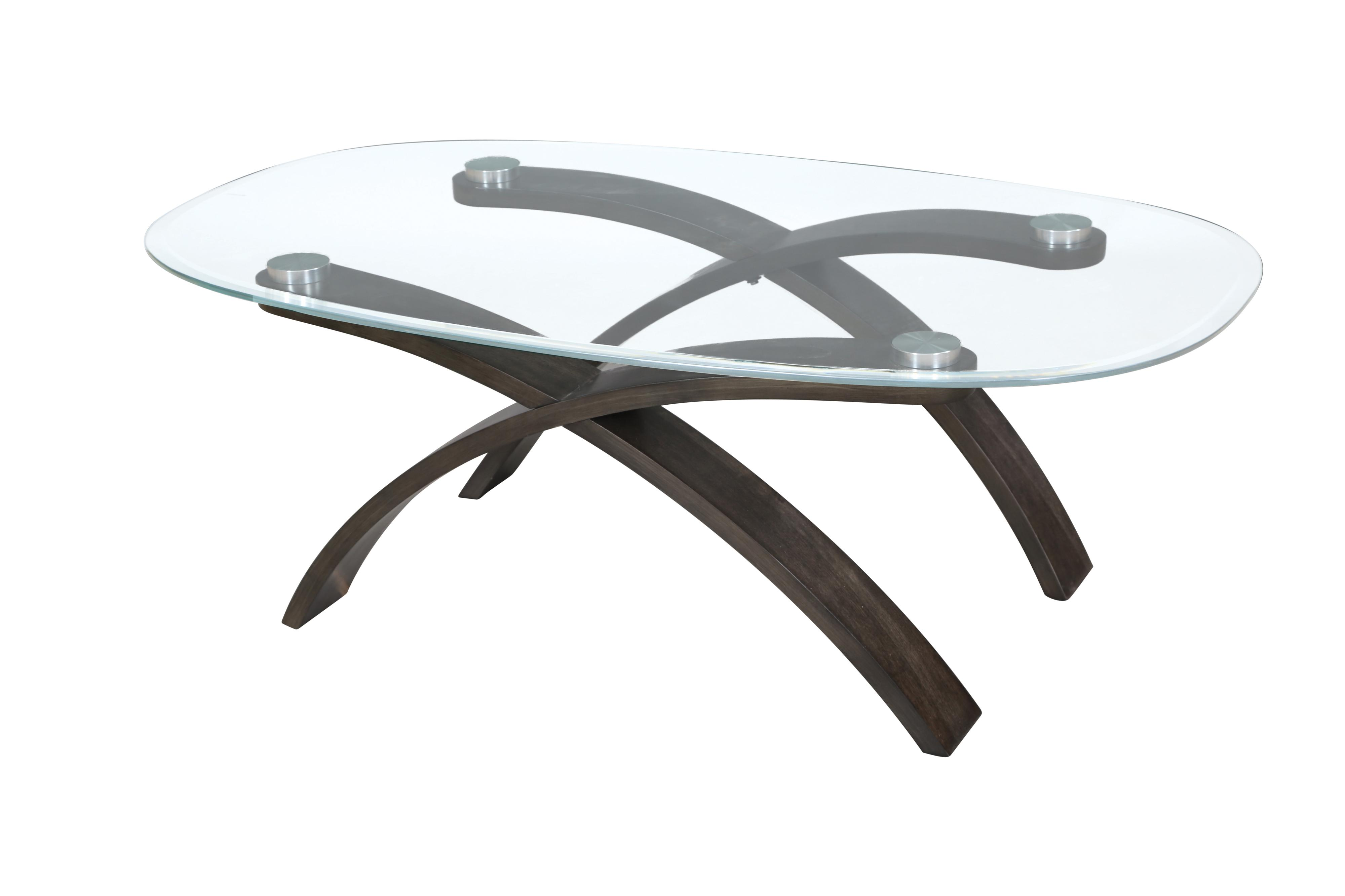 Magnussen Home Forum Oval Cocktail Table - Item Number: T2545-47B+47T