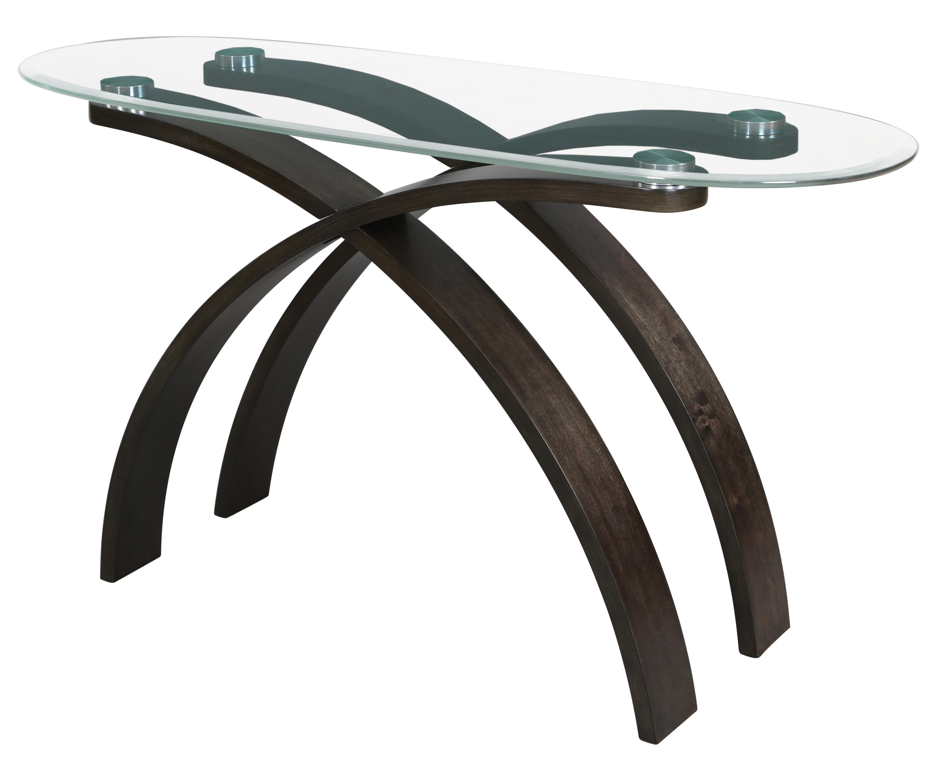 magnussen home forum contemporary oval sofa table with. Black Bedroom Furniture Sets. Home Design Ideas