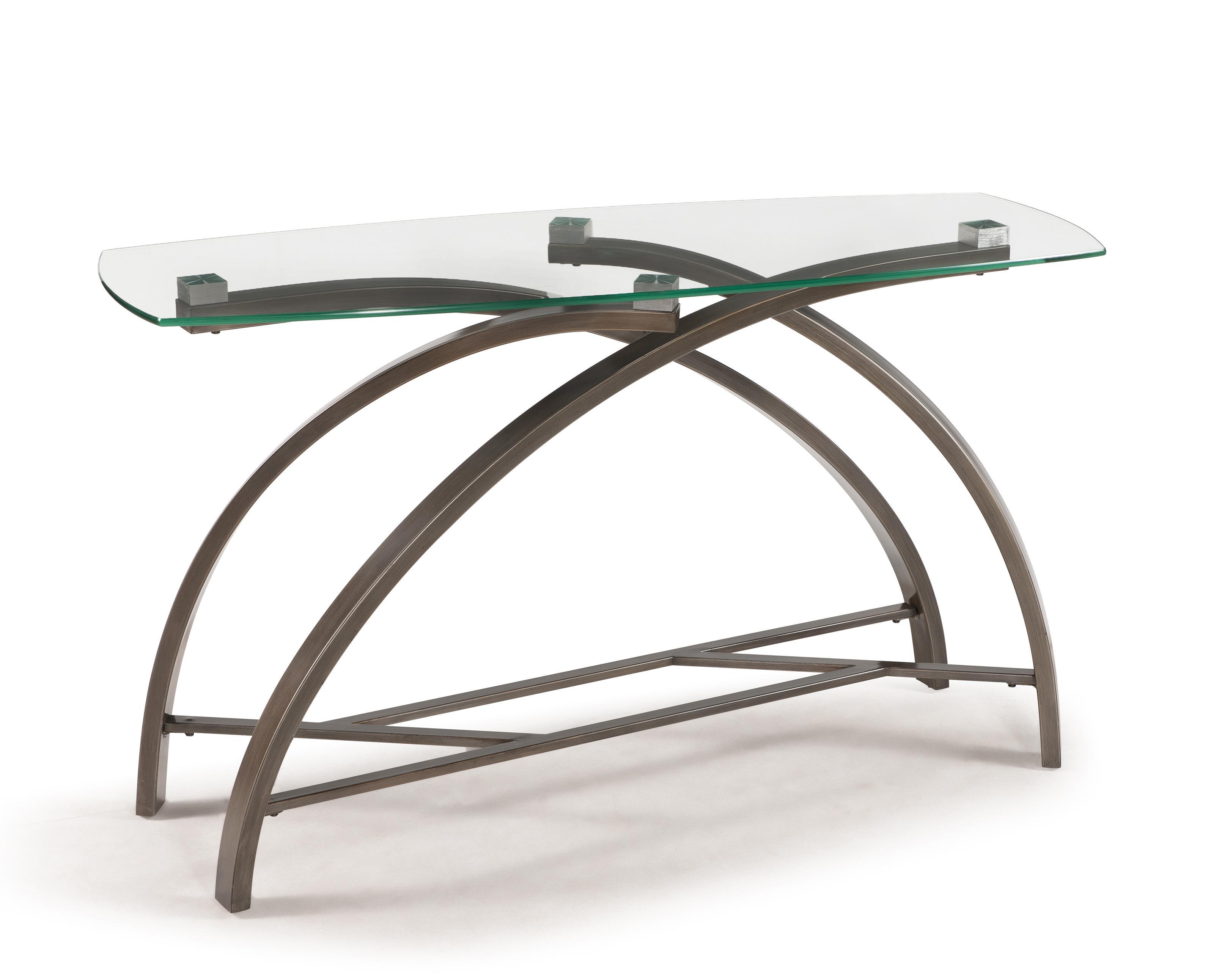 Magnussen Home Frisco Rectangular Sofa Table - Item Number: T2700-73B+73T