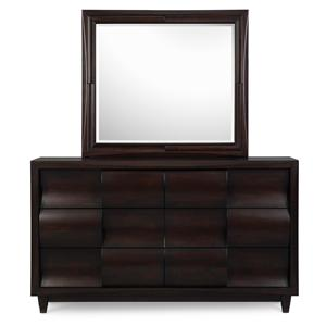 Magnussen Home Fuqua Dresser with Mirror Combination
