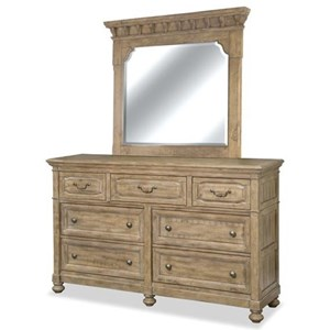Morris Home Furnishings Thorndale Dresser and Mirror Set