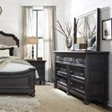 Magnussen Home Bedford Corners Traditional Dresser and Mirror Set