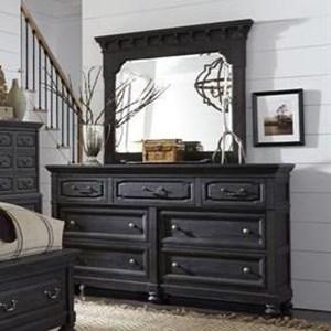 Magnussen Home Bedford Corners Dresser and Mirror Set