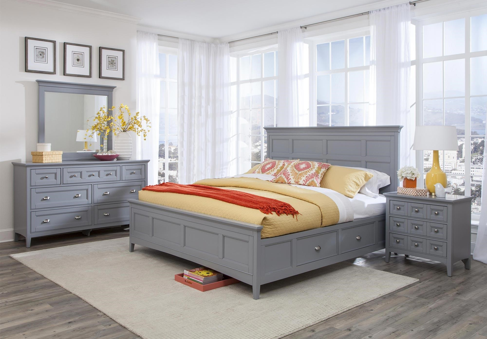 Magnussen Home Mason 4PC Queen Storage Bedroom Set - Item Number: B3572-4PC-QBR