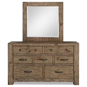 Magnussen Home Griffith 7 Drawer Dresser and Mirror