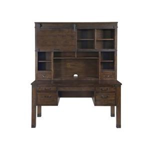 Magnussen Home Pine Hill Secretary Desk & Hutch