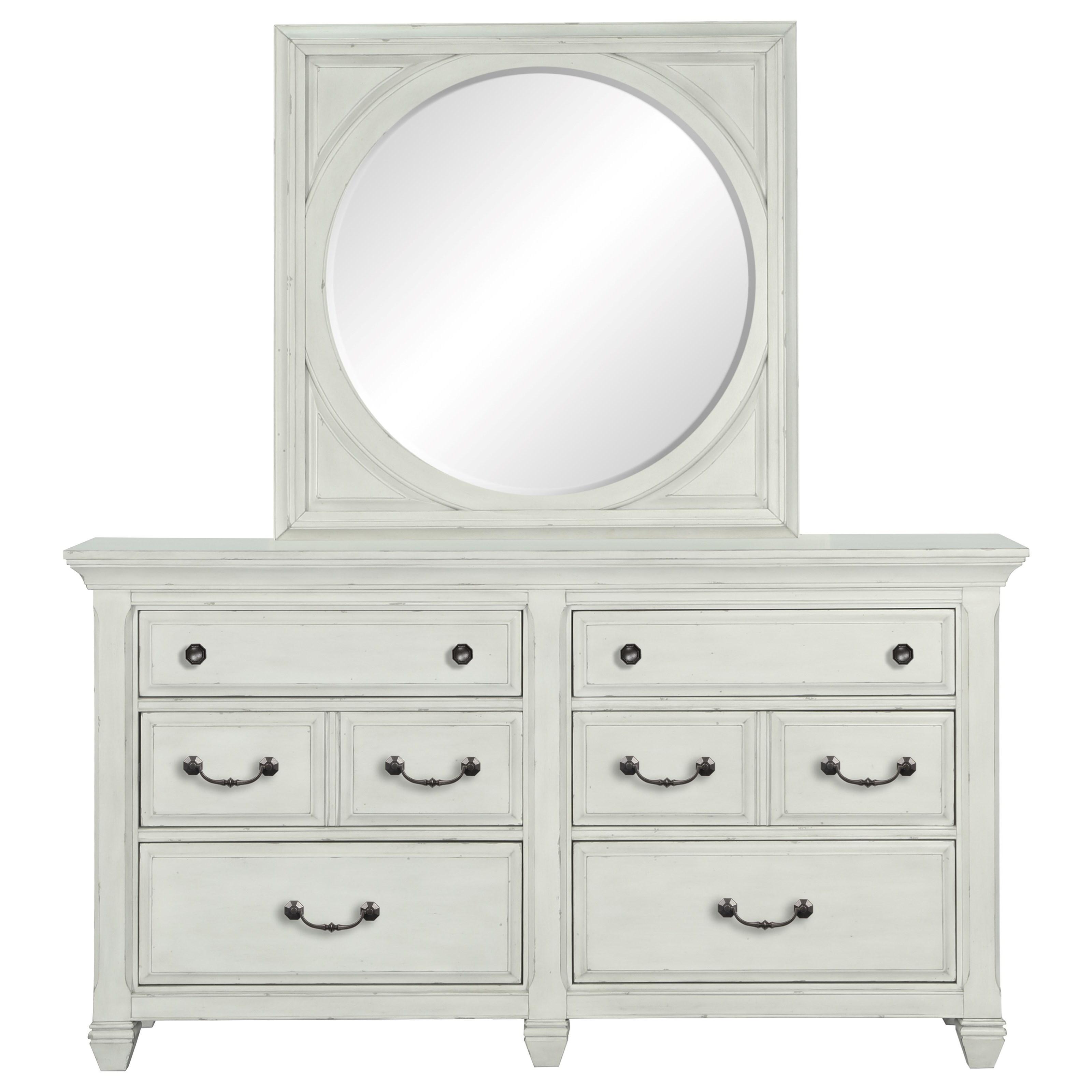 Belfort Select Magnolia Park Dresser and Mirror Set - Item Number: B3681-20+B3681-41