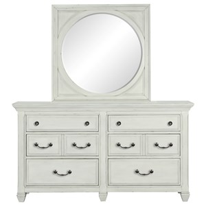 Belfort Select Magnolia Park Dresser and Mirror Set