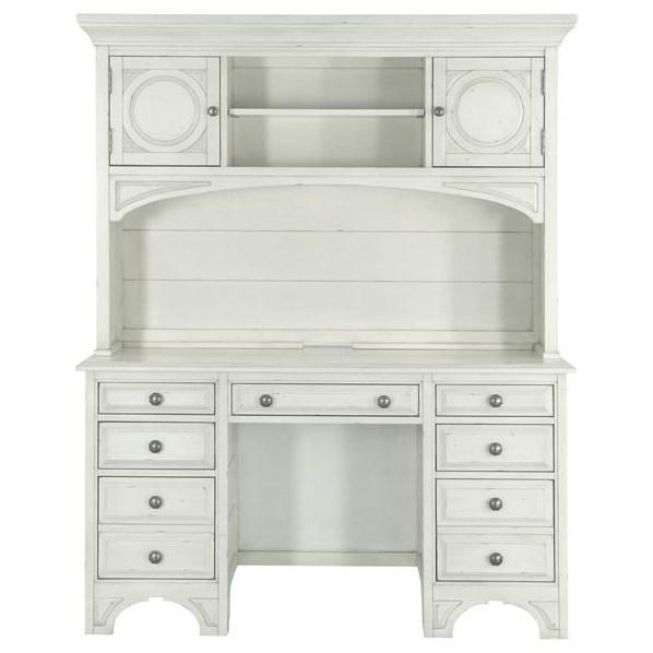 Magnussen Home Belinda 7 Drawer Desk and Hutch - Item Number: Y3681-30H