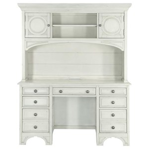 Magnussen Home Belinda 7 Drawer Desk and Hutch