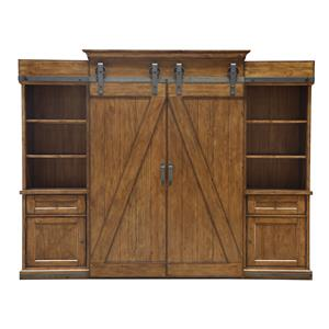 Magnussen Home Harper Farm Entertainment Wall Unit