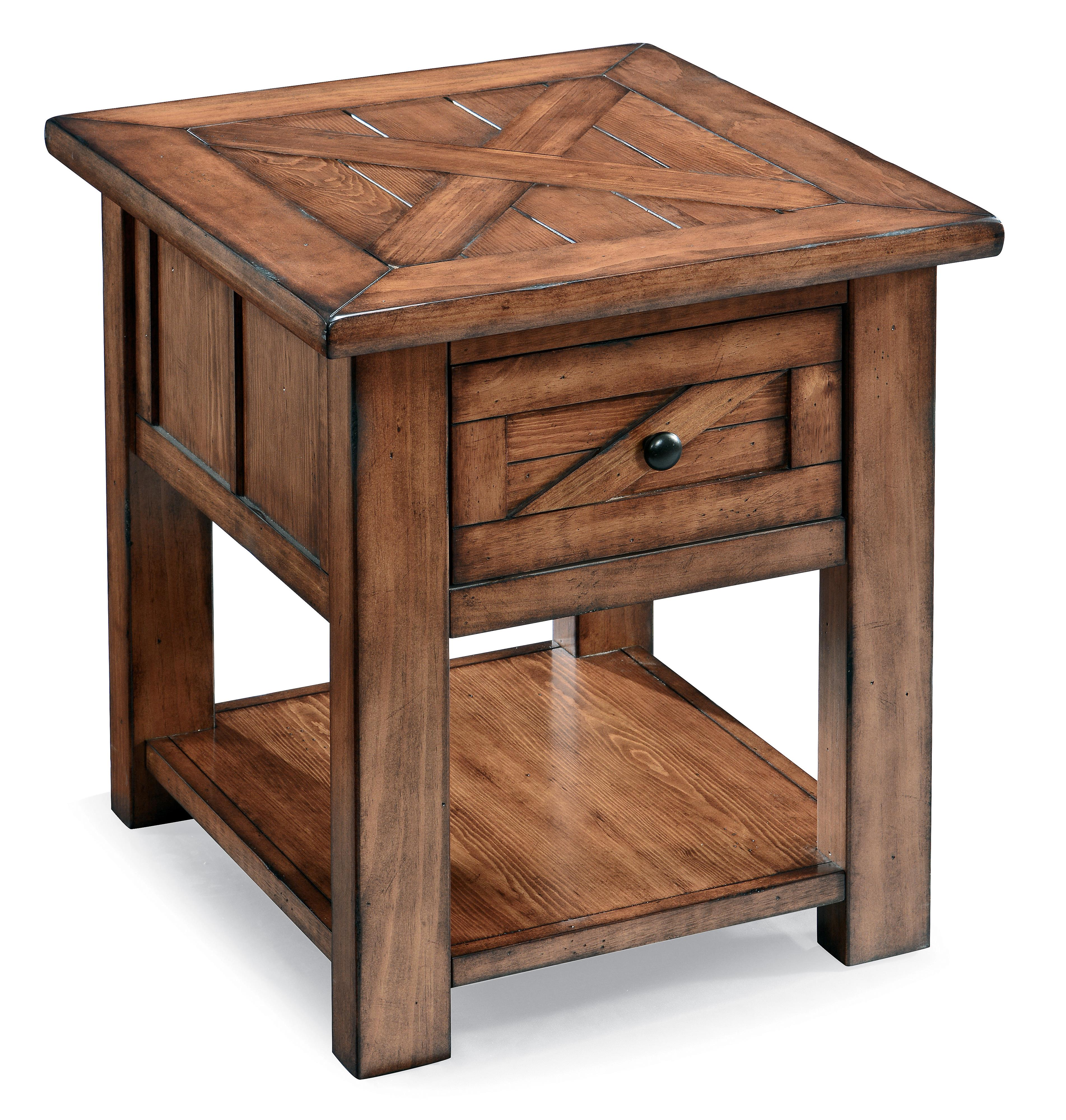 Magnussen Home Harper Farm Rectangular End Table - Item Number: T3269-03