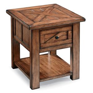 Magnussen Home Harper Farm Rectangular End Table