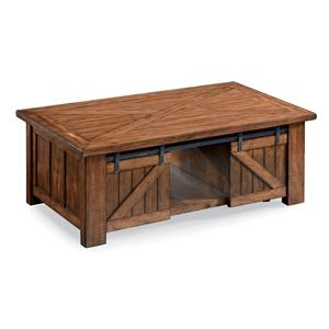 Magnussen Home Harper Farm Rectangular Lift Top Cocktail Table