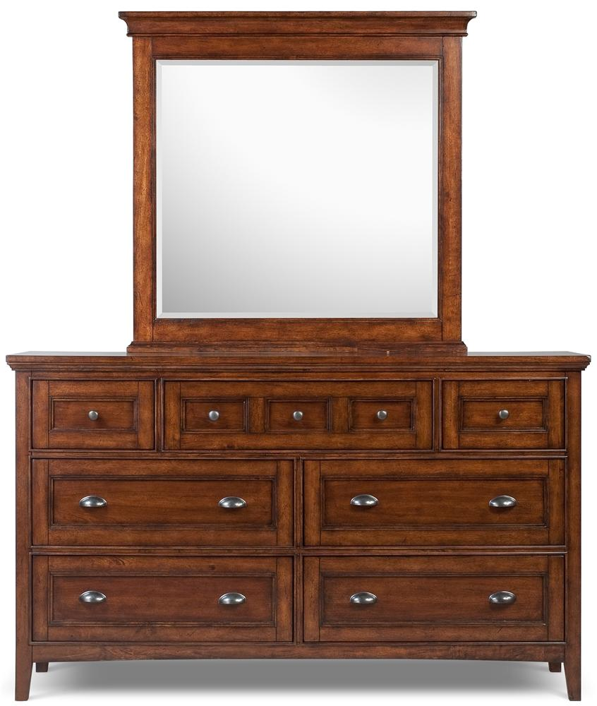 Magnussen Home Harrison Double Dresser and Landscape Mirror - Item Number: B1398-22+40
