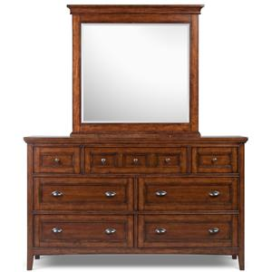 Belfort Select Harrison Double Dresser and Landscape Mirror
