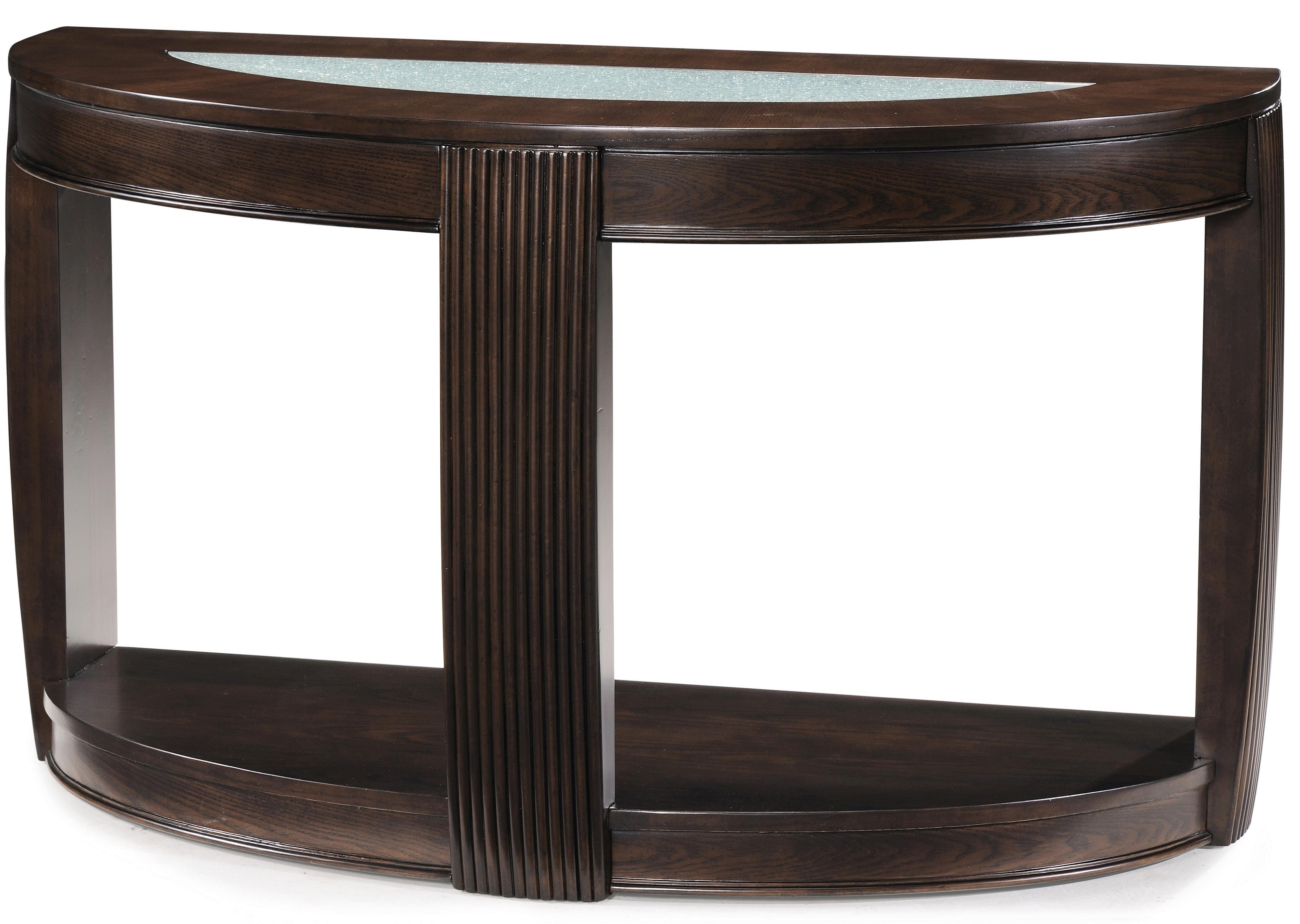 Magnussen Home Ino Demilune Sofa Table - Item Number: T1738-75