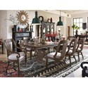 Magnussen Home Jefferson Market Traditional Dining Set - Item Number: D4381-32+2xD4381-62+6xD4381-62