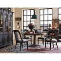 Magnussen Home Jefferson Market Dining Arm Chair with an Upholstered Seat