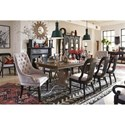 Magnussen Home Jefferson Market Upholstered Arm Chair with Button Tufting and Nailhead Trim