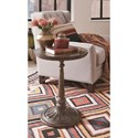Magnussen Home Jefferson Market Rustic Round Accent Table