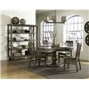 Magnussen Home Karlin Dining Cart with Open Shelving and Casters - D2471-17