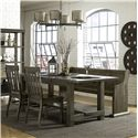 Magnussen Home Karlin Table, Chair and Bench Set - Item Number: D2471-20+79+2x60