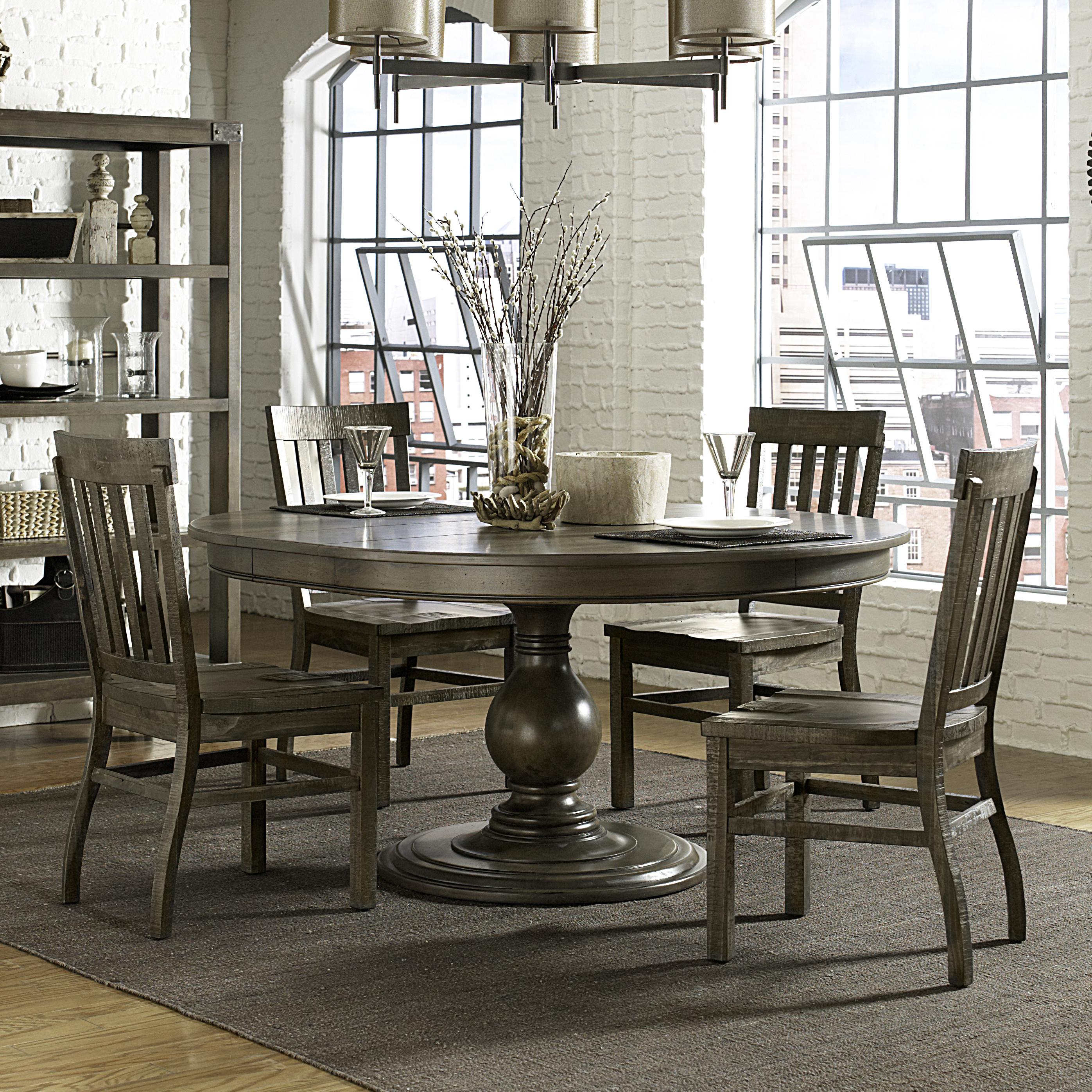 Belfort Select Karlin 5 Piece Table and Chair Set - Item Number: D2471-22+4x60