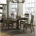 Vendor 2014 Cordova 5 Piece Table and Chair Set - Item Number: D2471-22+4x60