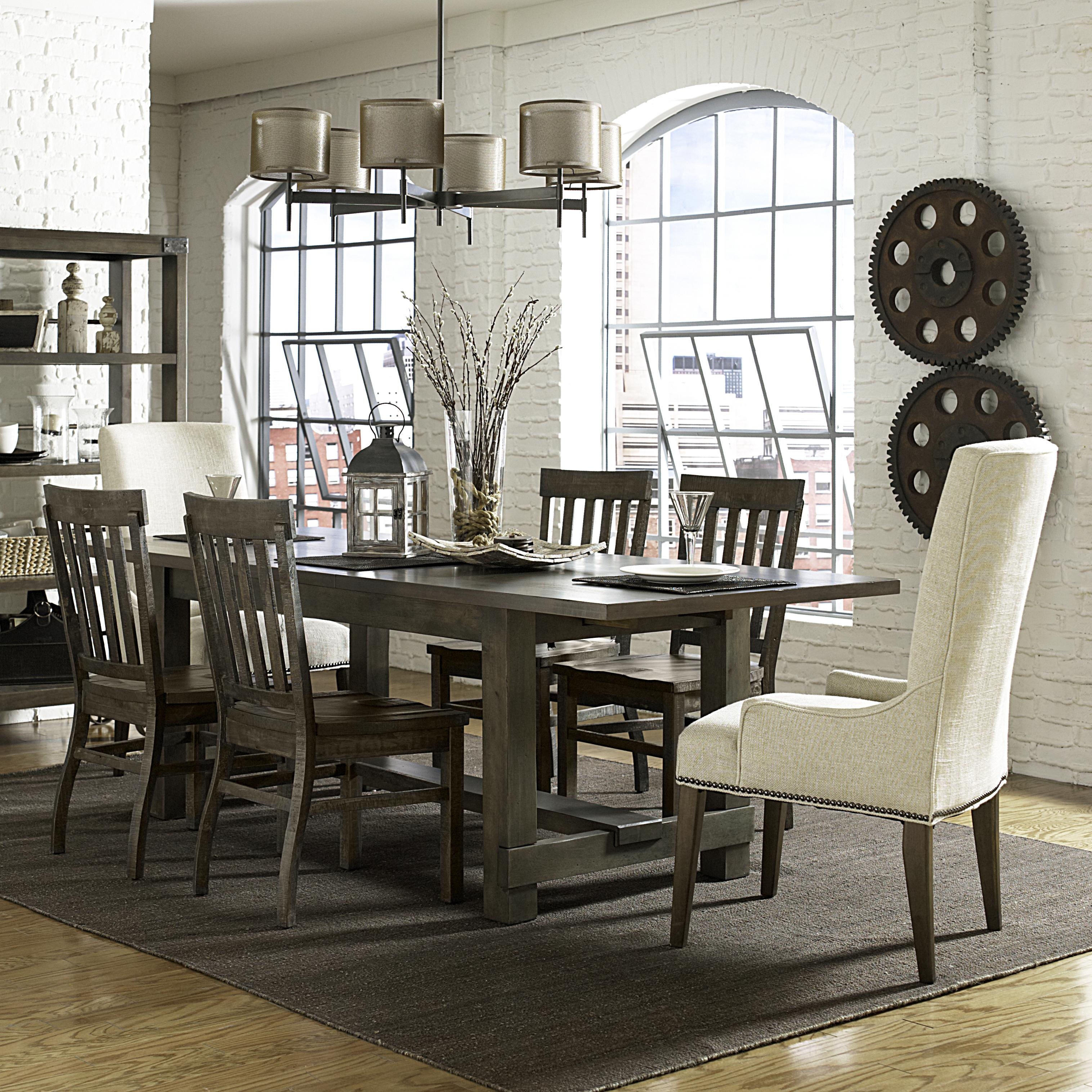 Belfort Select Karlin 7 Pc Dining Set - Item Number: D2471-22+4XD2471-60+2XD2503-63