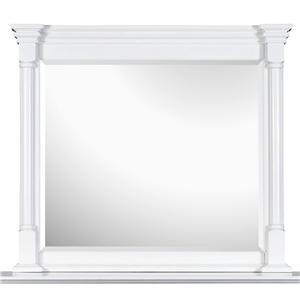 Landscape Mirror with White Frame