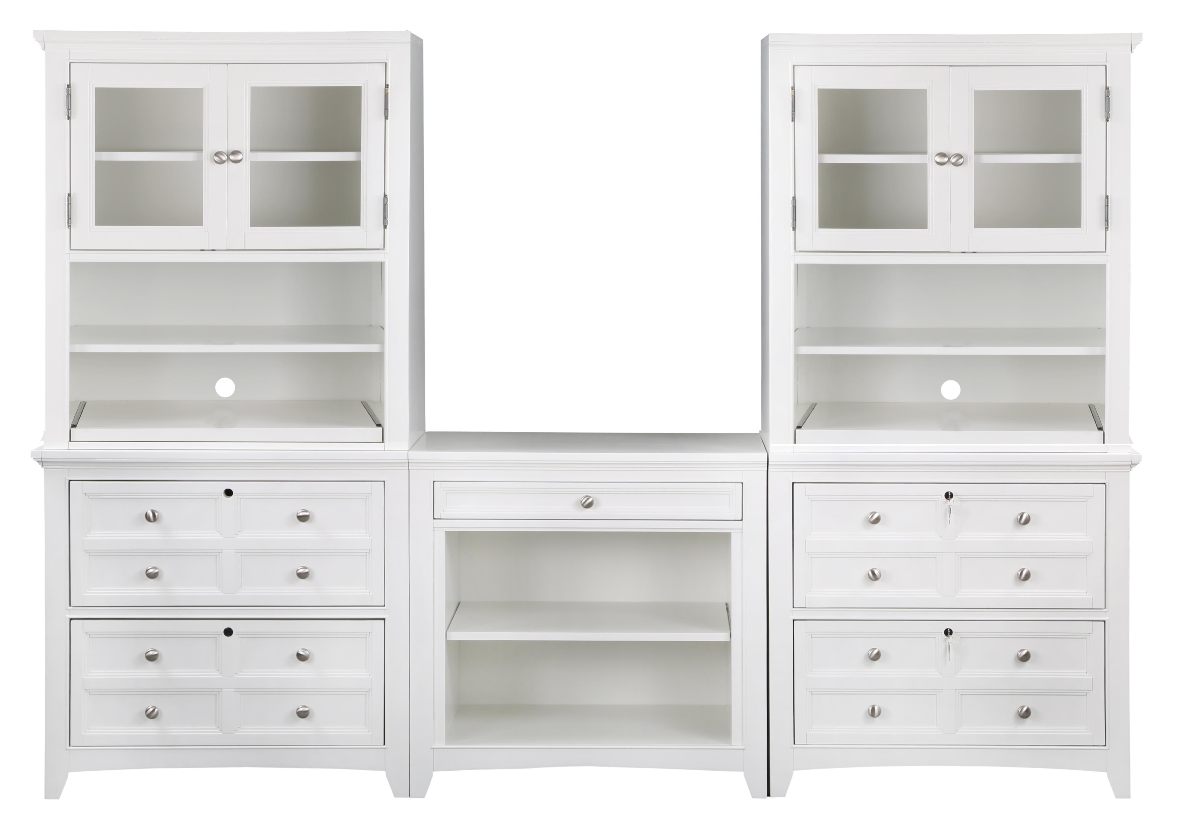 Magnussen Home Kentwood Office Storage Wall - Item Number: 2xH1475-41+2XH1475-40+H1475-42